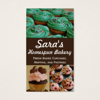 Cupcake Bakery Photo Business Cards