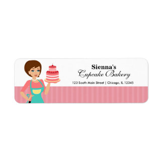 Cupcake Bakery Return Address Label