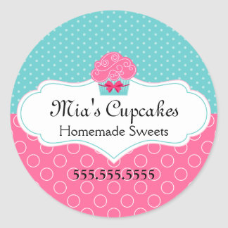 Cupcake Bakery Stickers
