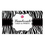 Cupcake Bakery Zebra Print Pink Elegant Modern Pack Of Standard Business Cards
