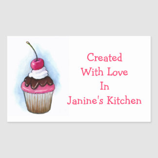 Cupcake: Baking Labels: Oil Pastel Art Sticker