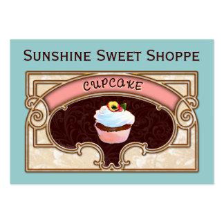 Cupcake Banner Shop Sign Business Card Templates