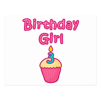 Cupcake Birthday Girl 3 Postcard