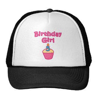 Cupcake Birthday Girl 5 Mesh Hat