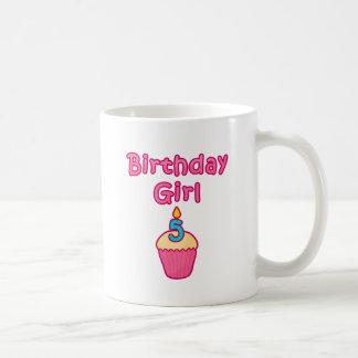 Cupcake Birthday Girl 5 Coffee Mug