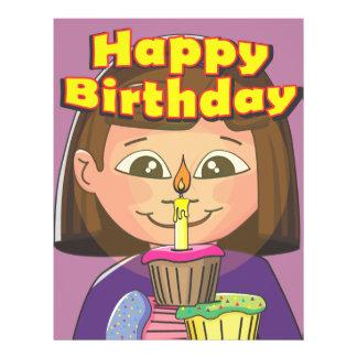 Cupcake birthday girl full color flyer
