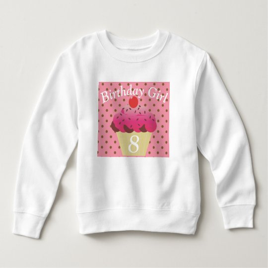 Cupcake Birthday Girl Sweatshirt