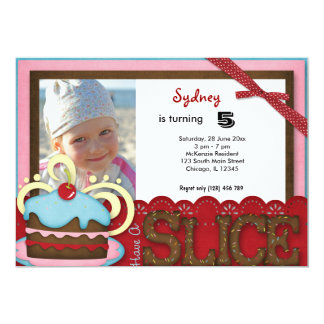 Cupcake Birthday Personalized Announcement
