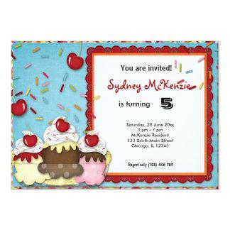 Cupcake Birthday Personalized Invitation