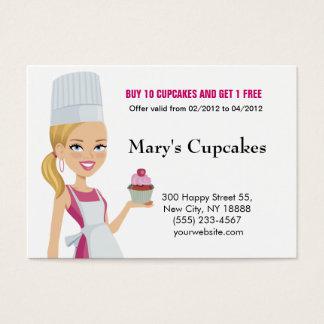 Cupcake Biz Card Blonde version 1