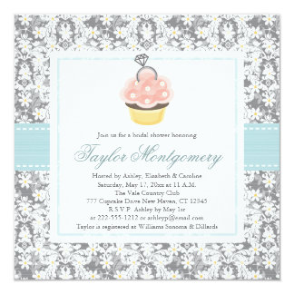 Cupcake Bridal Shower Invitations