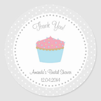 Cupcake Bridal Shower Sticker