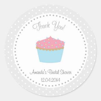 Cupcake Bridal Shower Sticker
