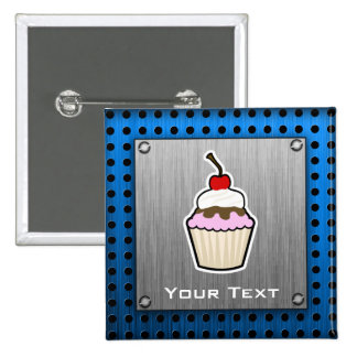 Cupcake; Brushed metal-look Button