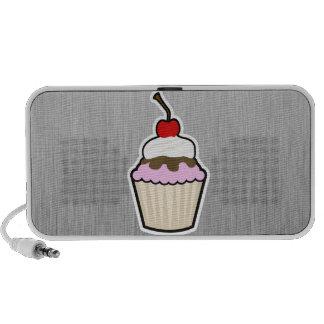 Cupcake Brushed metal-look iPod Speaker