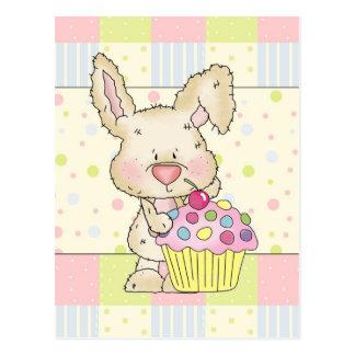 Cupcake Bunny postcard