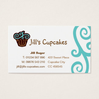 Cupcake Business Card (blue)