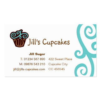 Cupcake Business Card blue