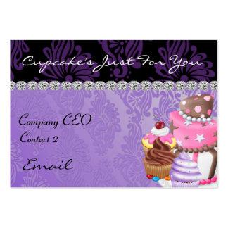 CUPCAKE  Business Card Diamond Damask