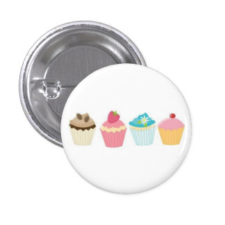 Cupcake 1 Inch Round Button