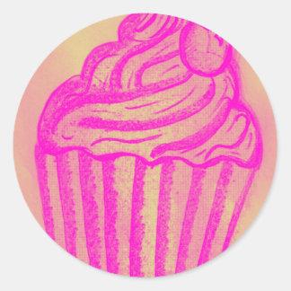 cupcake by imagining victoria classic round sticker
