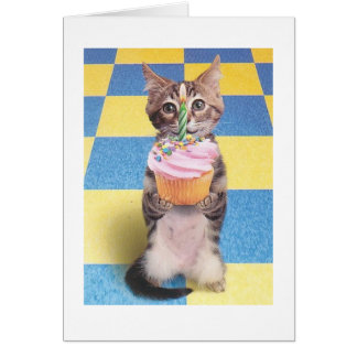 cupcake cat birthday card