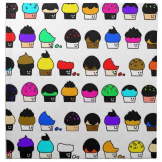 Cupcake Cavalcade – Colorful Repeating Pattern Napkin