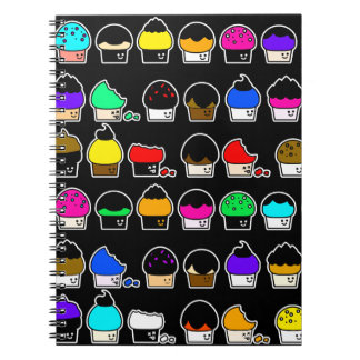 Cupcake Cavalcade – Colorful Repeating Pattern Notebooks