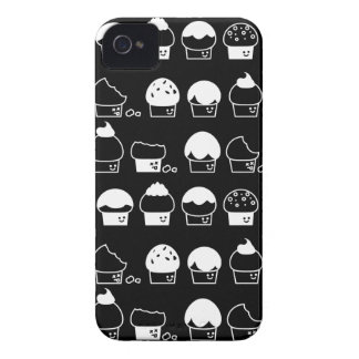 Cupcake Cavalcade – White Repeating Pattern iPhone 4 Case