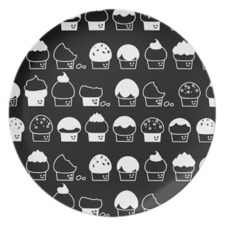 Cupcake Cavalcade – White Repeating Pattern Plate