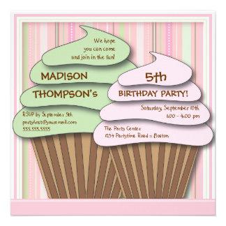 Cupcake Celebration Birthday Party Invitation