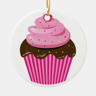 Cupcake Ceramic Ornament