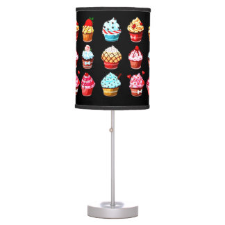 Cupcake collection table lamp