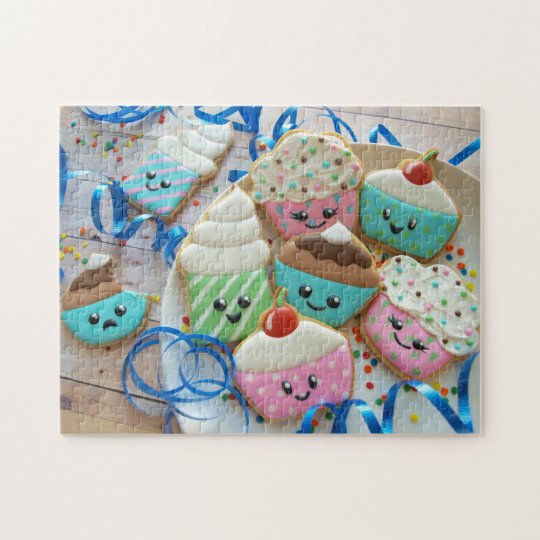Cupcake Cookie Jigsaw Puzzle