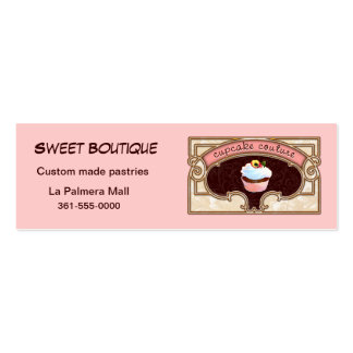 Cupcake Couture Pink Business Card Logo