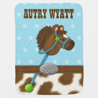 Cupcake Cowboy Baby Blanket