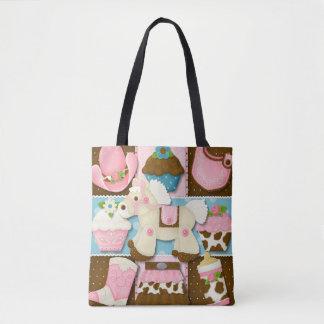 Cupcake Cowgirl Diaper/Tote Bag