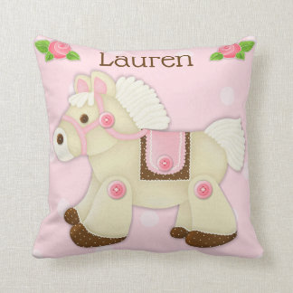 Cupcake Cowgirl Personalized Nursery Pillow