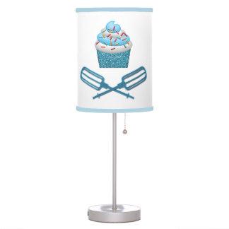 Cupcake & Crossed Beaters In Blue Table Lamp