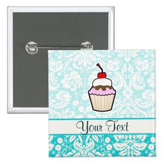 Cupcake; cute 2 inch square button