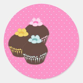 Cupcake Cuties Round Sticker