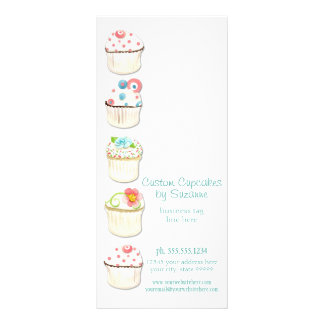 Cupcake Dessert Baking Bakery Business Identity Custom Rack Cards