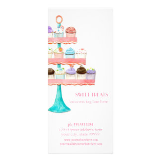 Cupcake Dessert Baking Bakery Business Package Rack Card