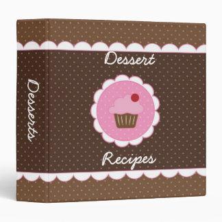 Cupcake Dessert Recipe 3 Ring Binders