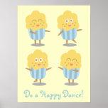 Cupcake Doodle: Kawaii Cupcake dancing happily
