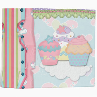Cupcake Dreams Recipe Notebook 3 Ring Binders
