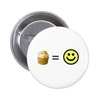Cupcake Equals Happiness 2 Inch Round Button