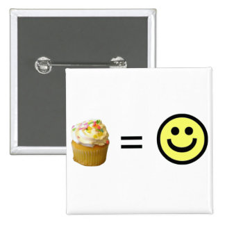 Cupcake Equals Happiness Buttons