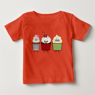 Cupcake family icing sprinkles cherry cakes heart baby T-Shirt