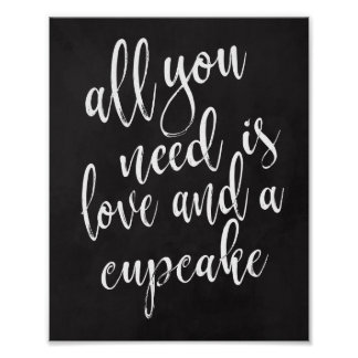 Cupcake favors 8x10 chalkboard wedding sign